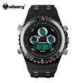 Infantry mens relógios piloto reloj digital sports moda relógios de luxo marca de relógios cronógrafo alarme 30 m resistente à água
