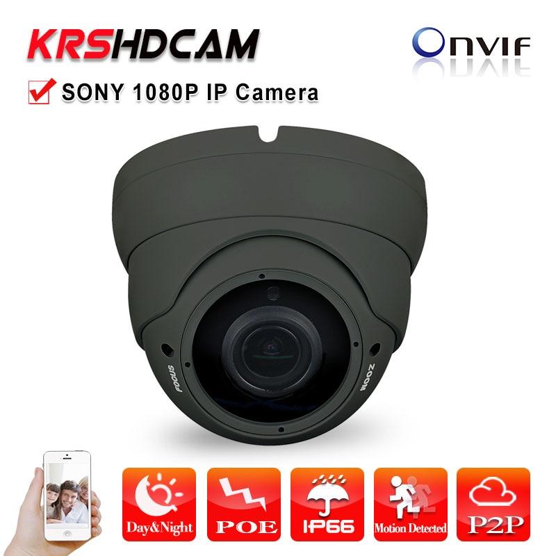 imágenes para 2MP POE ip cámara 1080 P ONVIF 2.4 sala de la cúpula de sony sensor imx323 36IR interior a prueba de vandalismo 2.8-12 MM lente de zoom de cámaras de segurança