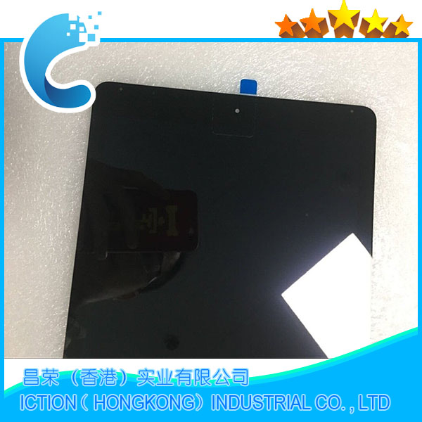 5pcs/lot New A1567 A1566 LCD Digitizer Assembly For iPad Air 2 LCD Screen Assembly Display Touch Screen Black Color free shopping dhl 10pcs lot quality a for iphone 5 lcd white and black touch screen digitizer full assembly