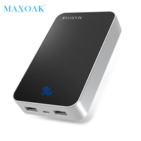 MAXOAK 13000mAh Power Bank 18650 Dual USB Output 5V 2 1A And LCD Display Power Bank