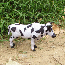Simulation cow polyethylene&furs cowl model funny gift about 22cmx14cm
