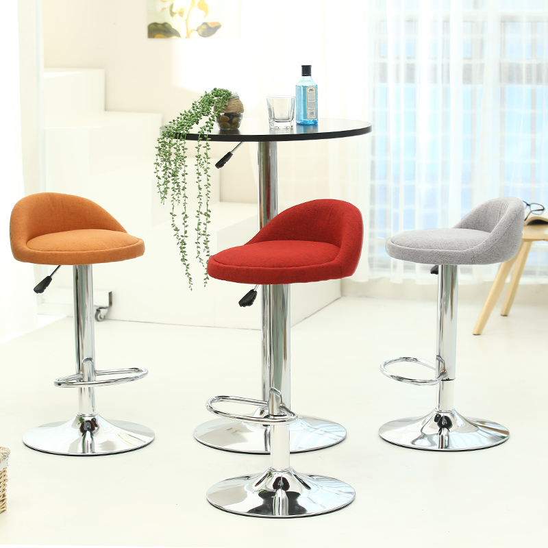 European  high quality fashion fabric bar  chair  bar stool barber high chair  soft comfortable  height adjustable high quality adjustable height protection vision for children learning set of table and chair