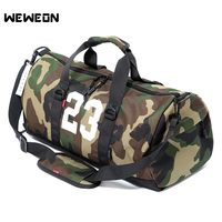 New Men Camouflage Gym Training Bag With Shoe Storage Pocket Women Sports Bag for Fitness Durable Handbag Outdoor Sporting Tote