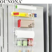 OUNONA   Kitchen   Multipurpose Refrigerator Side   Storage   Rack Nevera Side Shelf Rack Organizer Sidewall Fridge Multi-layer Holder