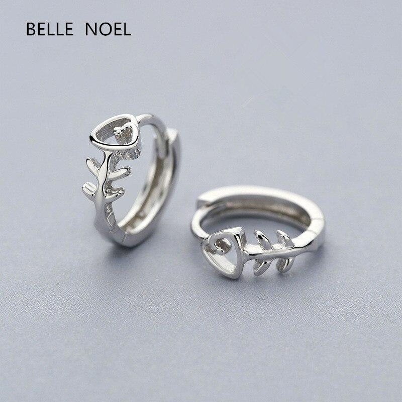 Fishbone ear buckle national standard 925 sterling silver, new fashion jewellery Earrings classic gift.A1600