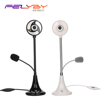 FELYBY S40 USB Web Camera can bend any angle freely computer camera with3 LED lights and 16M pixels Built-in microphone