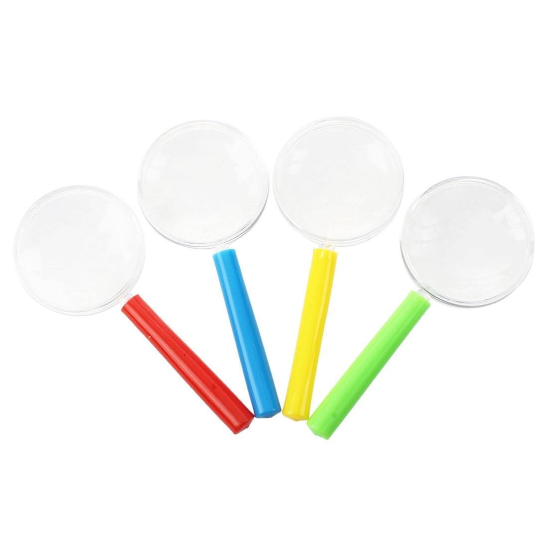4pcs Plastic Mini Magnifying Glass Children's Toys