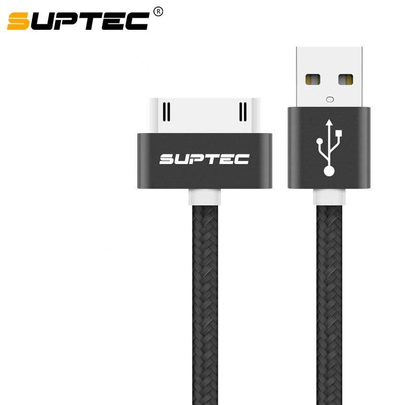 USB-кабель SUPTEC для iPhone 4, 3, 3, 3, iPad 1, 2, 3, iPod Nano touch, 30-контактный кабель для быстрой зарядки, оригинальный адаптер для зарядки, шнур для синхронизац...