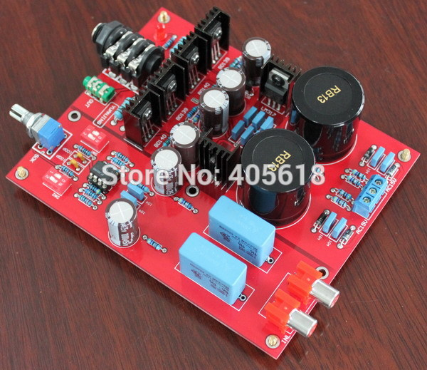 цена на Deluxe Headphone Amplifier Board Base on Lehmann AMP Assembled top quality Electricity Generation