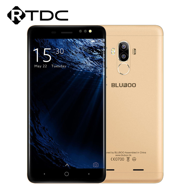 Presale Original Bluboo D1 2GB RAM 16GB ROM 3G WCDMA MTK6580A Quad Core 1.3GHz Android 7.0 5.0''HD 1280x720P 8.0MP Mobile Phone