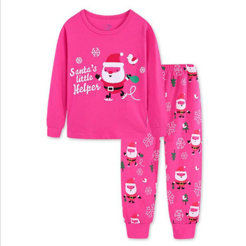 New Christmas Clothing Set Toddler Baby Kids Boys Girls Shirt Tops+ Pants Clothes Children Casual Set  Xmas Outfit Costumes Baby Clothing Sets