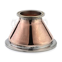 Copper Tri Clamp Reducers . Red copper T2 with stainless steel ferrule .