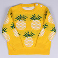girls sweater 2016 autumn kids pullover knitting kids sweaters cute girls outfits baby sweater 0-5y kids pineapple sweater