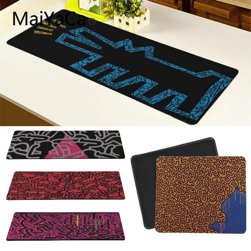 Maiyaca Custom Skin Keith Haring Customized Laptop Gaming Mouse Pad Free Shipping Large Mouse Pad Keyboards Mat