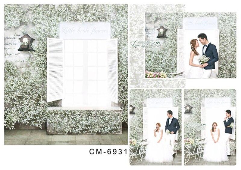 200*300cm Wedding Vinyl Backdrops For Photography Fond Studio Photo Wonderful windows Flower wall Tile Floor For Children shengyongbao 300cm 200cm vinyl custom photography backdrops brick wall theme photo studio props photography background brw 12