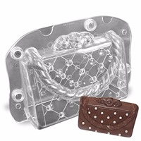 ANDES  PC polycarbonate Chocolate Lady's Bag mold, 3d food chocolate mould , kitchen tools baking mold tools