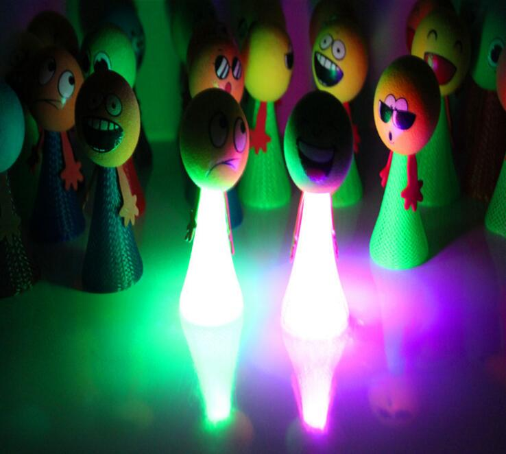 20pcs lot Antistress Fun Toys Glow Jump Bounce Elf Colorful Fly Children Creative Toy Gift