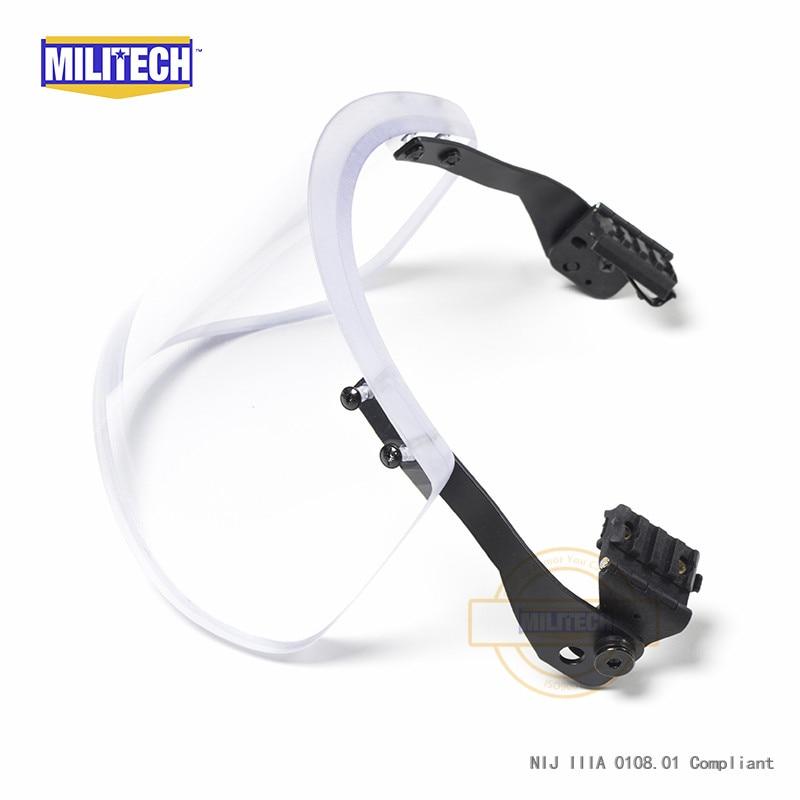 Image 5 - MILITECH NIJ 0108.01 IIIA 3A Bulletproof Visor for ACH FAST Tactical Helmet Bulletproof Visor Bullet Proof Mask For Helmetshelmet sleevehelmet partvisor hats -