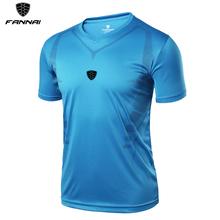 Koszulki z krótkim rękawem dla mężczyzn lato topy Slim Fit koszula z krótkim rękawem szybkie suche męskie koszulki z krótkim rękawem koszulki piłkarskie odzież do biegania odzież sportowa tanie tanio FANNAI Poliester Soccer Pasuje mniejszy niż zwykle proszę sprawdzić ten sklep jest dobór informacji Sprężone Przeciwzmarszczkowy