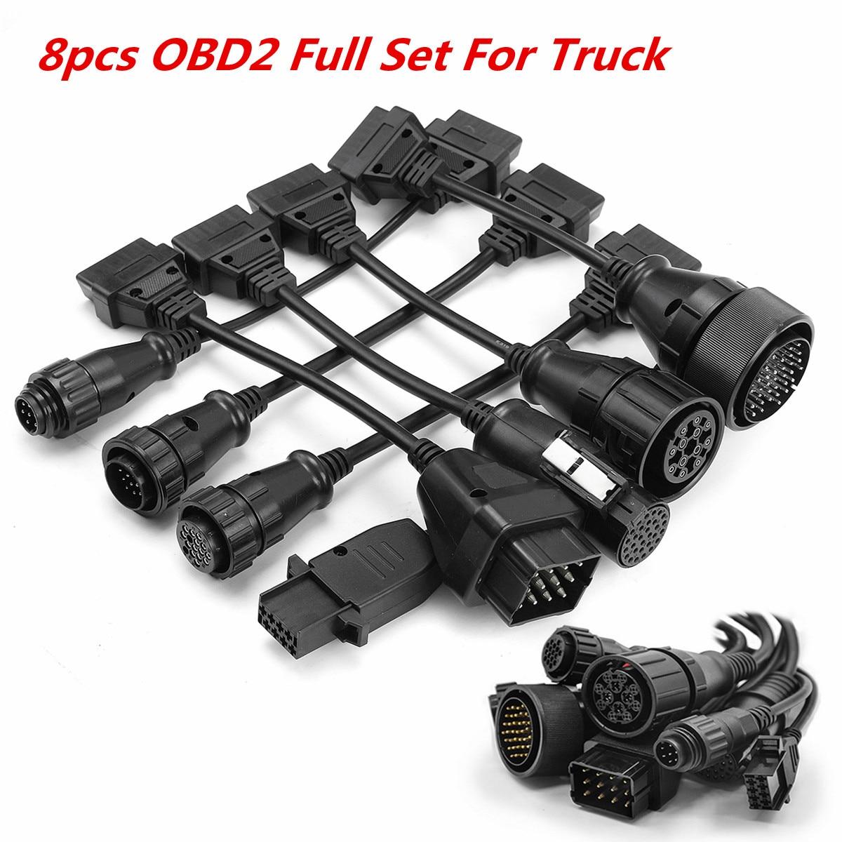 8pcs OBD2 Full Set For Benz / Volvo Truck Cables For AUTOCOM/delphi/ CDP