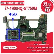 N550JV Motherboard i7 4700HQ gt750m For ASUS N550JK G550JK Q550J laptop MotherboardN550JV Mainboard N550JV Motherboard 100