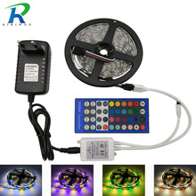 SMD 5050 RGBW RGBWW RGB LED Strip No-Waterproof 5M DC 12V LED Light Strips 60led/m add 40K 44K Remote and 4A Power adapter