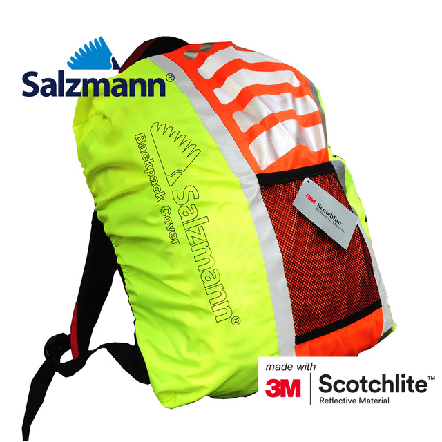 a6d9dfc67ad8 Salzmann 3M Scotchlite New fashion high quality yellow orange waterproof reflective  backpack cover