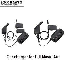 Carregador de Carro rápido Para DJI Mavic Ar Inteligente de Carregamento Da Bateria Conector Do Carro USB Adaptador Hub Mavic Ar Feito Bateria de Carro carregador