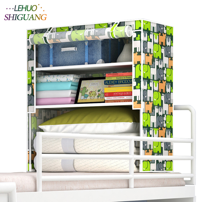Students in bed Wardrobe Non-woven Steel frame reinforcement Standing Storage Organizer Detachable Clothing Closet furniture students in bed wardrobe non woven steel frame reinforcement standing storage organizer detachable clothing closet furniture