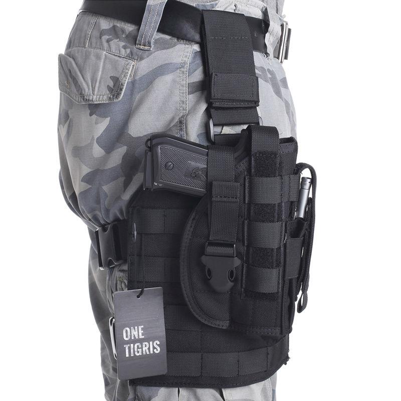 OneTigris font b Tactical b font Gun Holster Molle Modular Pistol Holster with Magazine Pouch for