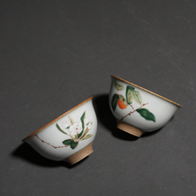 PINNY 70ml Your Kiln Retro Porcelain Teacups Chinese Kung Fu Tea Cup Ceramic Bowl Handpainted Drinkware Ceremony