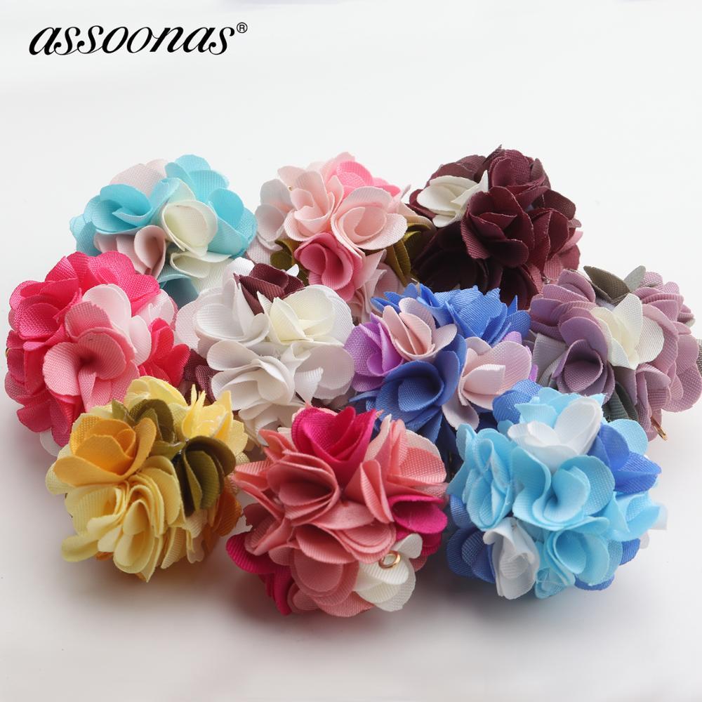 Assoonas F129,colored Flowers,jewelry Findings,jewelry Making,diy Earrings,10pcs/lot