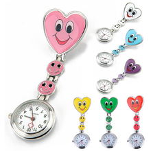 2015 new fashion Cute Nurse Portable White Smiling Face Design Pocket Watches women