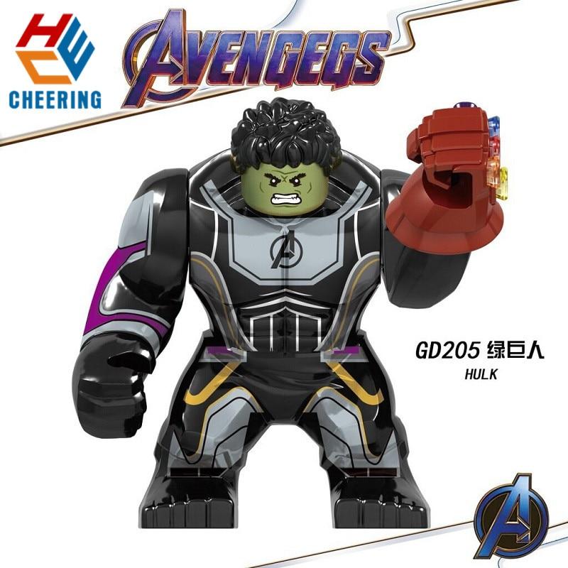 GD205 Big Figures Building Blocks Hulk Avengers4 Endgame Model Bricks Super Heroes Sprider-Man Iron Man Dolls Toys For Children