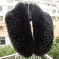 Womens Shrug Winter Fashion Faux gola de pele de raposa gola cachecol envoltório roubou lenços colares mulheres tamanho grande preto