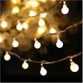 10 M led luces de cadena con bola 50led iluminación durante las fiestas de navidad luces del Festival lámpara de la decoración de Navidad al aire libre