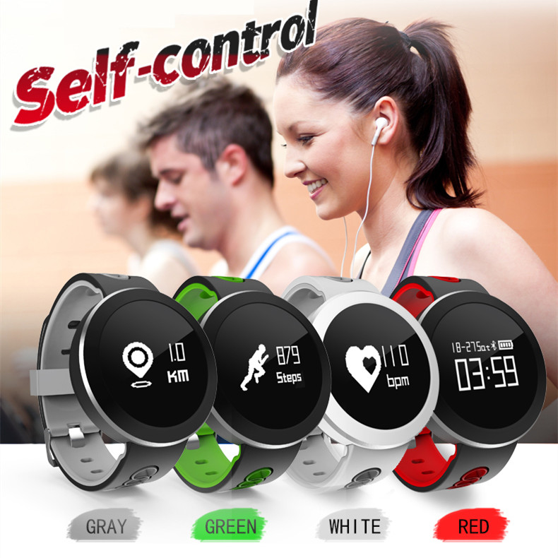 Round Smartwatch Skype Whatsapp Heart Rate Swimming Armband Smart Bracelet Watches Women Man Blood Pressure Wristwatch Best Gift