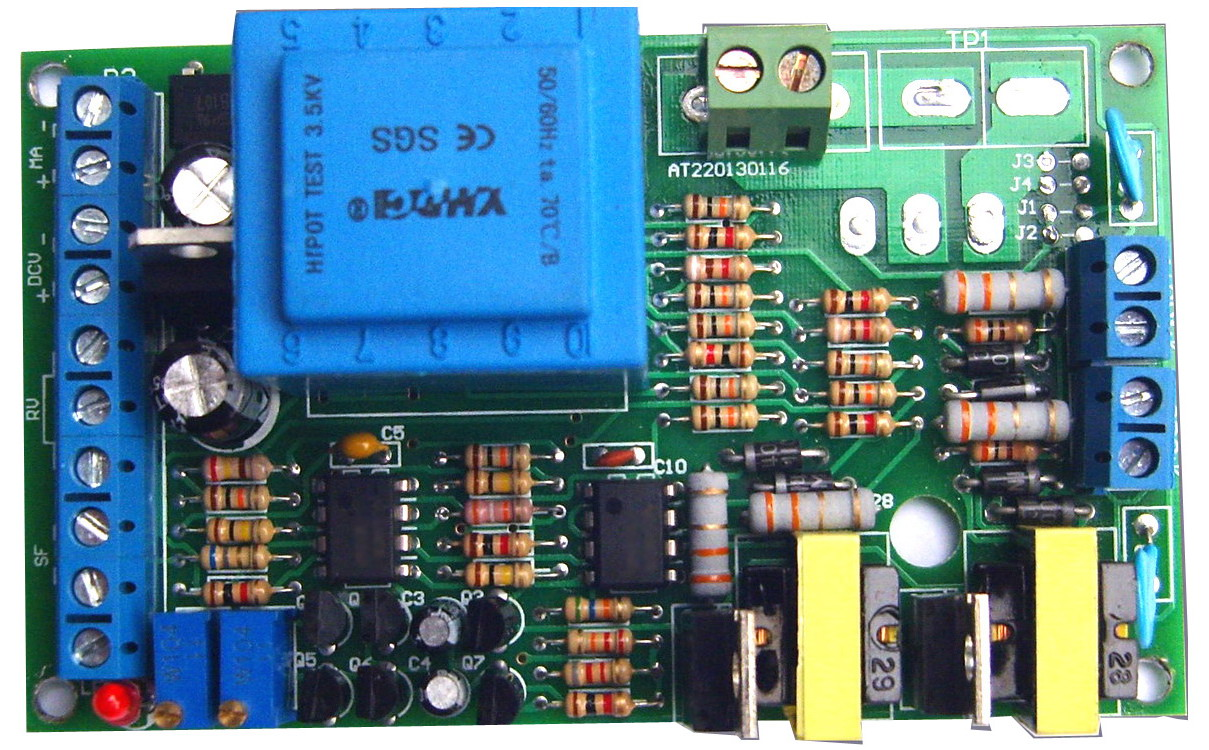 1-5 V, 4-20mA, contrôle de potentiomètre, 0-220 V AT2201-1 réglable de panneau de déclencheur de thyristor