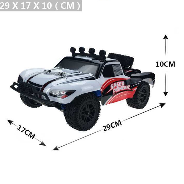 RC Car 4WD 45km/h Full Proportion High Speed Drift 2.4G Monster Truck Remote Control BigFoot Buggy Off-Road SUV Electronic Toys 5