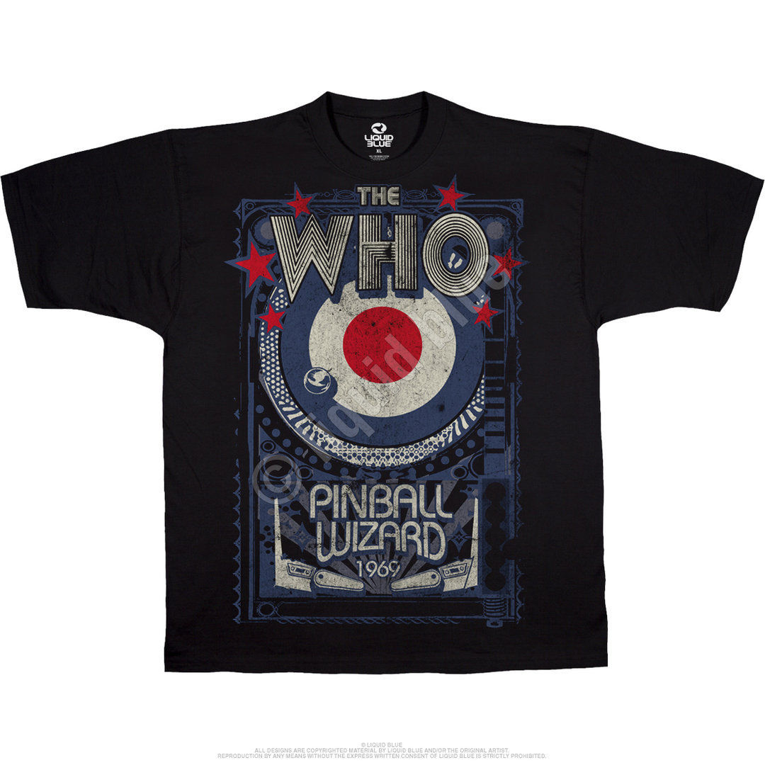 The Who Mens White T Shirt Pinball Wizard Flippers Official