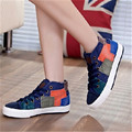 Womens Demin Shoes High Top Canvas Shoes Espadrilles De Marque Chaussure Femme Talon Tn Women Casual Shoes Lace UP XK071419