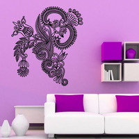 ZOOYOO Mandalas Lotus Vinyl Wall Stickers Floral Pattern Art Design Wall Decals Home Decoration Removable