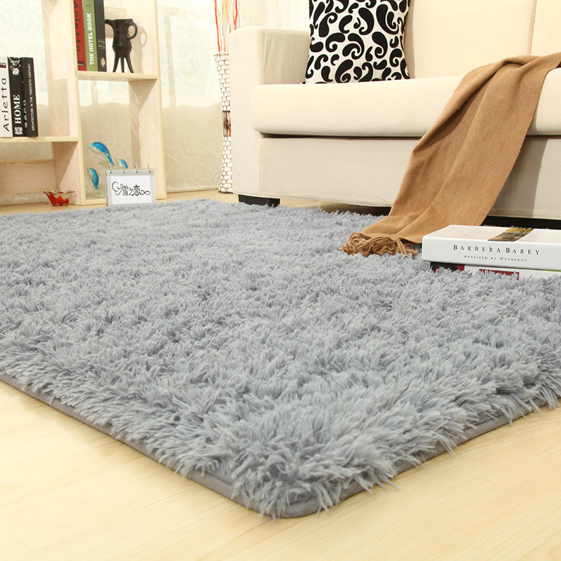 Colorful Solid Rugs Carpet Thicker Bathroom Non-slip Mat Area Rug For Living Room Soft For Child Bedroom Mat