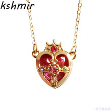 2018 fashion necklace glass crystal hearts female charm delicate pendant party gift ball