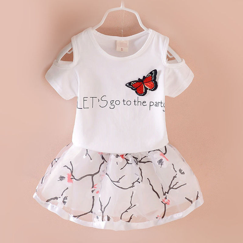 Baby Girls Clothes 2017 Brand Girls Clothing Sets Kids T-shirt Cartoon Children Clothing Toddler Girl Tops+Skirt Dress 20 inch lifelike sleeping boy reborn baby doll full silicone vinyl realistic babies dolls kids birthday xmas gift