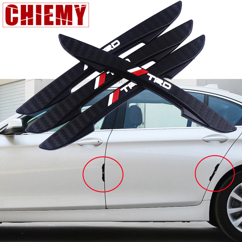 4pcs Car Styling For Toyota TRD Logo Emblem Car Door Anti-collision Safety Rear View Mirror Protection Sticker Auto Accessories