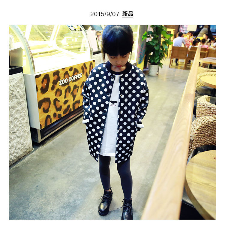 2016 spring and autumn new girls jacket space cotton long sleeved T shirt children in child