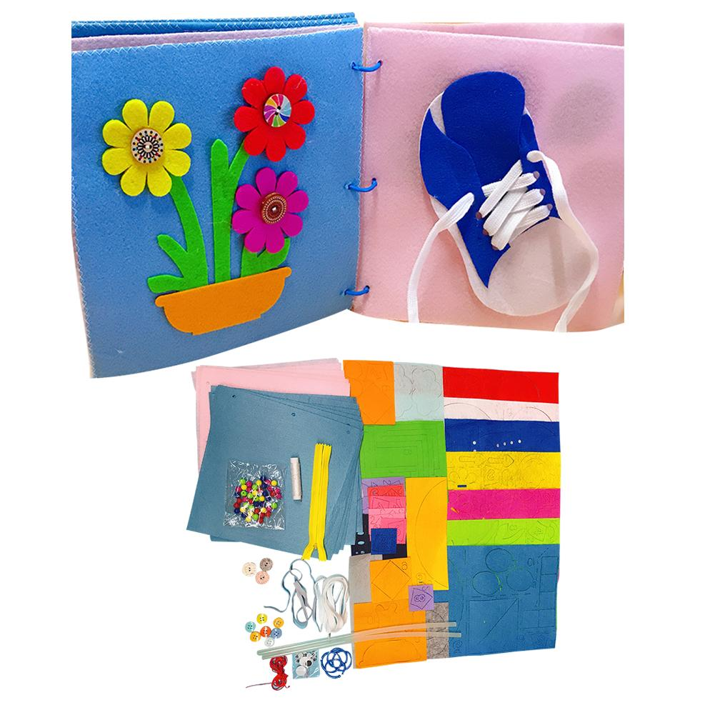New Baby Toys Early Cognitive Education Puzzle Cloth Book With Ring Paper Kids Book Story Book Small Dolls Soft Cloth Quiet Book