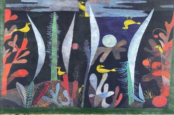 High quality Oil painting Canvas Reproductions Landscape with Yellow Birds  by Paul Klee  Painting hand painted