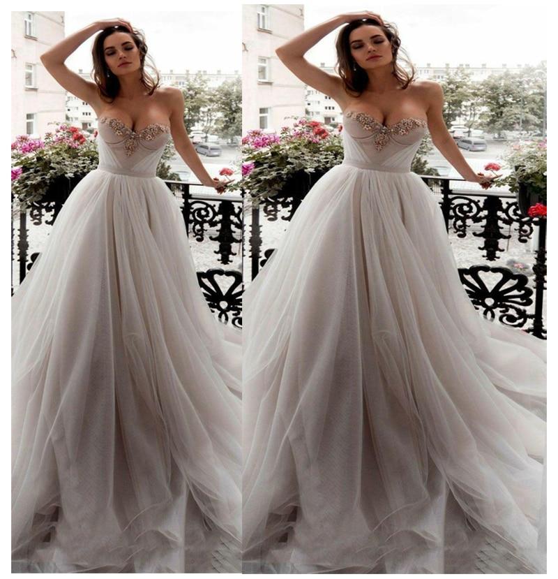 Simple Wedding Dress Europe: Wedding Dress Strapless Bride Dress Elegant Wedding Gowns